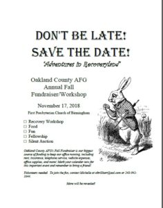 Fall 2018 Oakland AFG Conference! Save the Date!!!