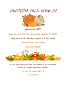 Alateen Fall Lock-In @ Dawn Farms: | Ypsilanti | Michigan | United States