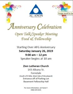Open Talk and Anniversary Party @ Zion Lutheran Church